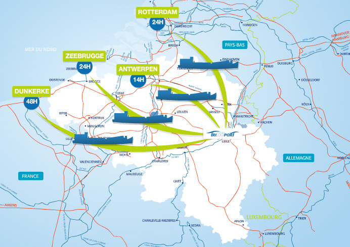 Schuttevaer haven luik groeit als kool havens en vaarwegen - Port d anvers belgique adresse ...