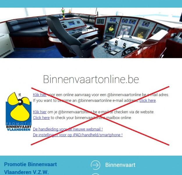 Binnenvaartonline.be doet het na 17 juli niet meer...