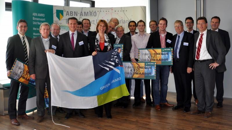 Green Award-cheques van ABN AMRO