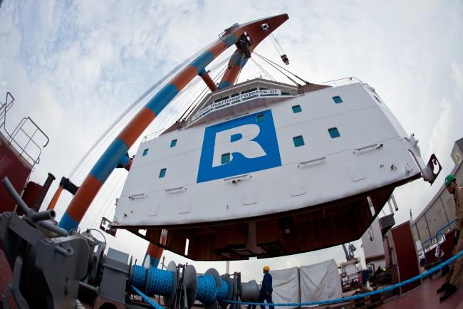Rolldock Star te water in Flensburg