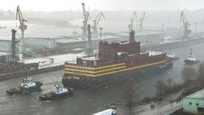 Greenpeace in actie tegen drijvende kerncentrale