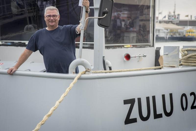 Zulu-schipper Bas Mol geniet
