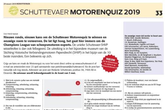 Maak hier Schuttevaer Motorenquiz 2019