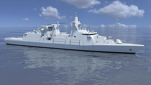 Artist's impression van het nieuwe Duitse MKS 180 type fregat. (Afbeelding MTG Marinetechnik)
