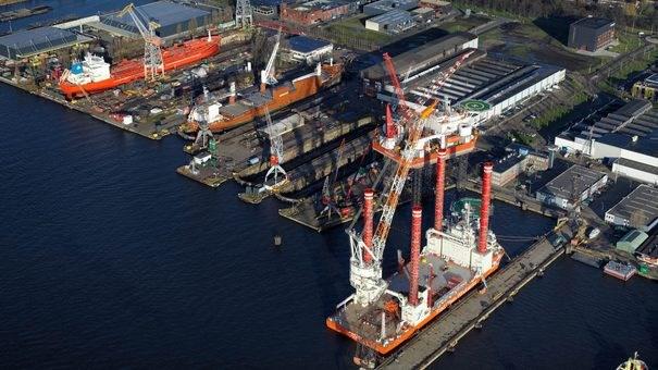 Damen Shiprepair Amsterdam heeft door de coronacrisis veel klanten verloren. (Foto Damen Shiprepair Amsterdam)