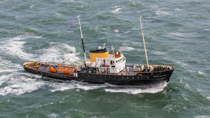 Het schip Holland IV Pesk van Rederij Doeksen (foto: Rederij Doeksen/Flying Focus)