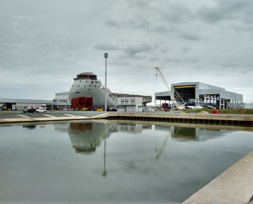 TKMS laat bij Braziliaanse werf Oceana vier korvetten bouwen voor de Braziliaanse marine. (Foto Oceana)