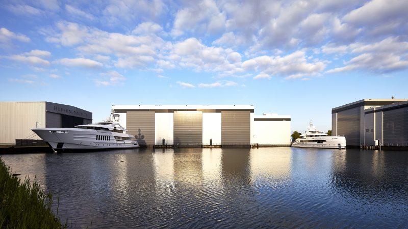 Heesen Shipyards is Oss breidde een aantal jaren geleden nog uit met het grootste 85 meter lange droogdok van de werf. (Foto Heesen Shipyards)