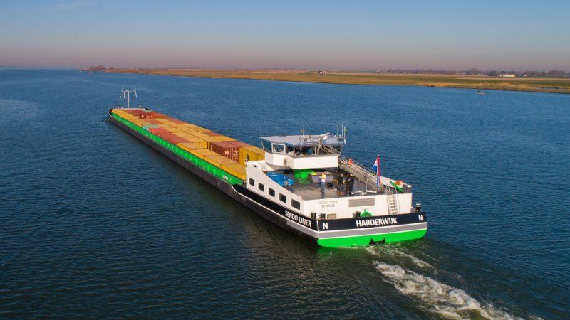 Binnenvaartschip Sendo Liner, gebouwd door Concordia Damen (archieffoto Schuttevaer)