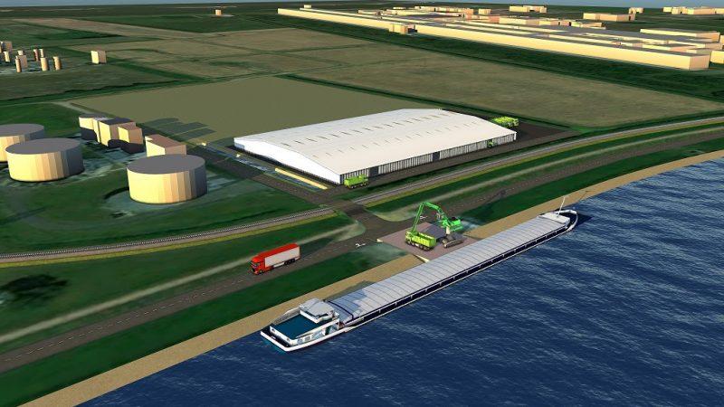 De plannen voor het terrein in Delfzijl (beeld Heuvelman GSO)