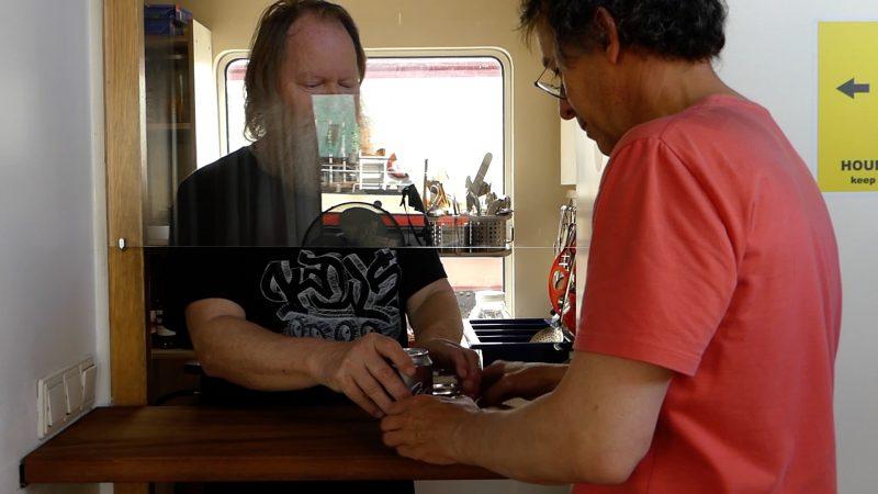 Het keukenloket op de Gandalf (beeld uit video)