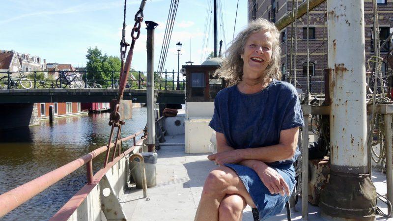 Karin Marseille op de Seolto. (Foto Heere Heeresma jr)