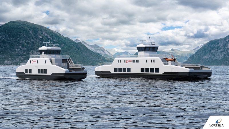 De elektrische ferry's gebouwd door Holland Shipyards (foto Wärtsilä)