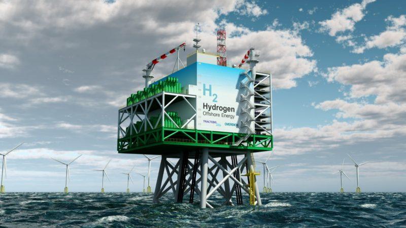 Waterstof offshore platform (foto Tractebel)