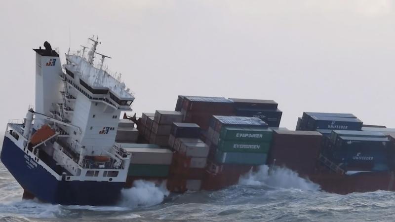 Dit onderzoek van MARIN is erop gericht dat ook die schepen daar veilig kunnen varen met hun bemanning en lading, zodat er geen containers meer overboord gaan. (Foto Kustwacht)