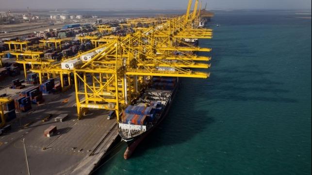 Een haventerminal van DP World. (Foto DP)
