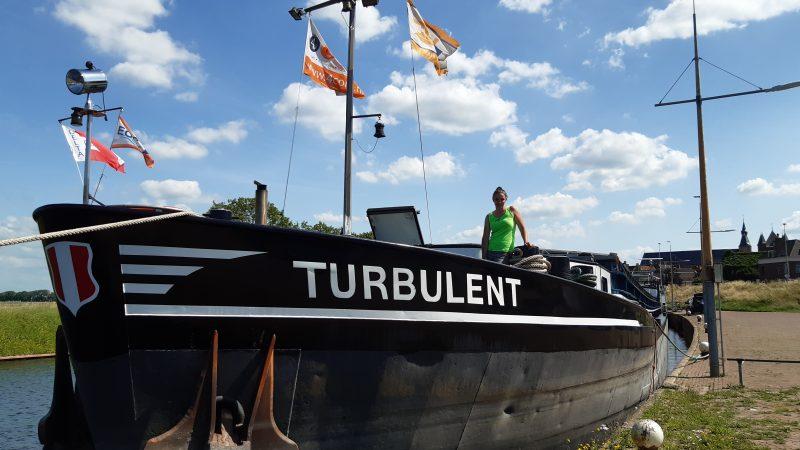 Marissa Brink werkt aan toekomst als schipper. (Privéfoto).