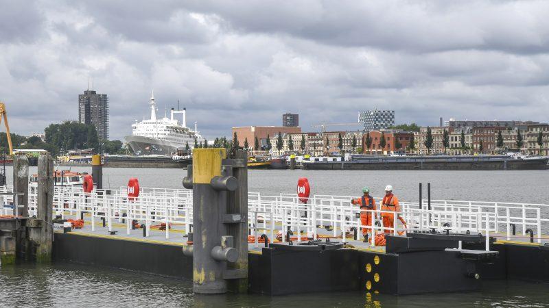 De binnenvaart heeft de Maashaven geclaimd. (Foto Havenbedrijf Rotterdam/Ries van Wendel de Joode)
