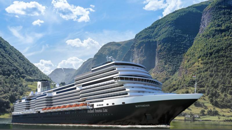 Voor de 7e keer noemt HAL een cruiseschip Rotterdam.(Foto HAL)
