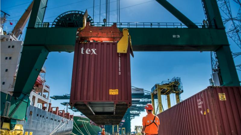 In de containersector wist Europa's tweede haven zelfs een plusje van 0,4% in aantallen te te scoren. (foto Port of Antwerp)