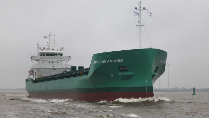 De technische proefvaart op de Eems had plaats onder een grijs en grauw wolkendek. (Foto Henk Zuur)