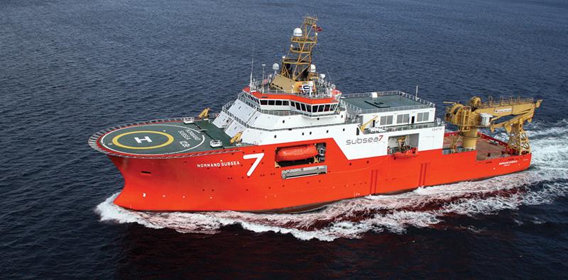 Een schip van Subsea7. (Foto Subsea)
