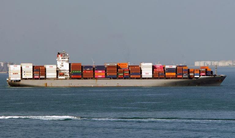 Het containerschip Bangkok Bridge. (Foto vesselfinder.com)