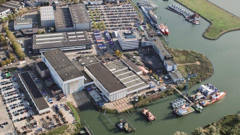n Nederland gaan er banen verloren op de locaties Gorinchem, Schiedam en het Friese Bergum. (Foto Damen)