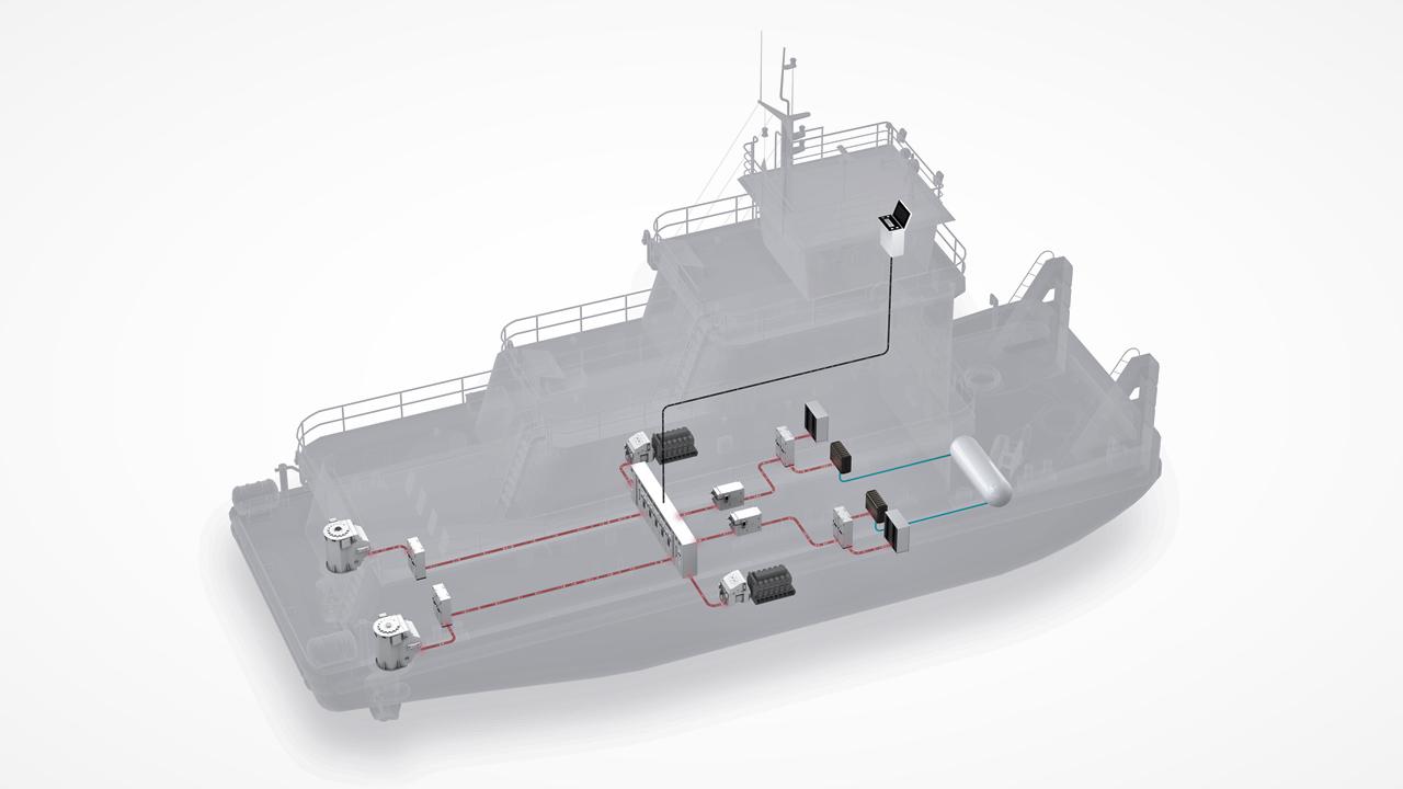 Schuttevaer: Franse CFT bouwt eerste duwboot op waterstof.