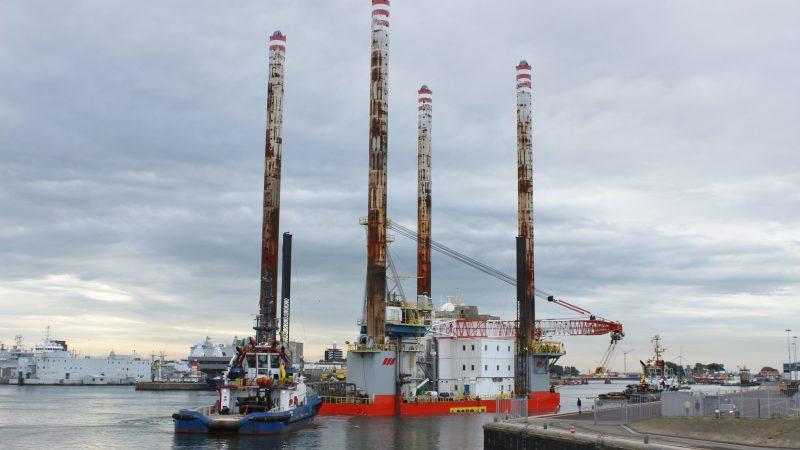 Aankomst van de Seafox 7 in de haven van Den Helder. (Foto: PAS Publicaties)