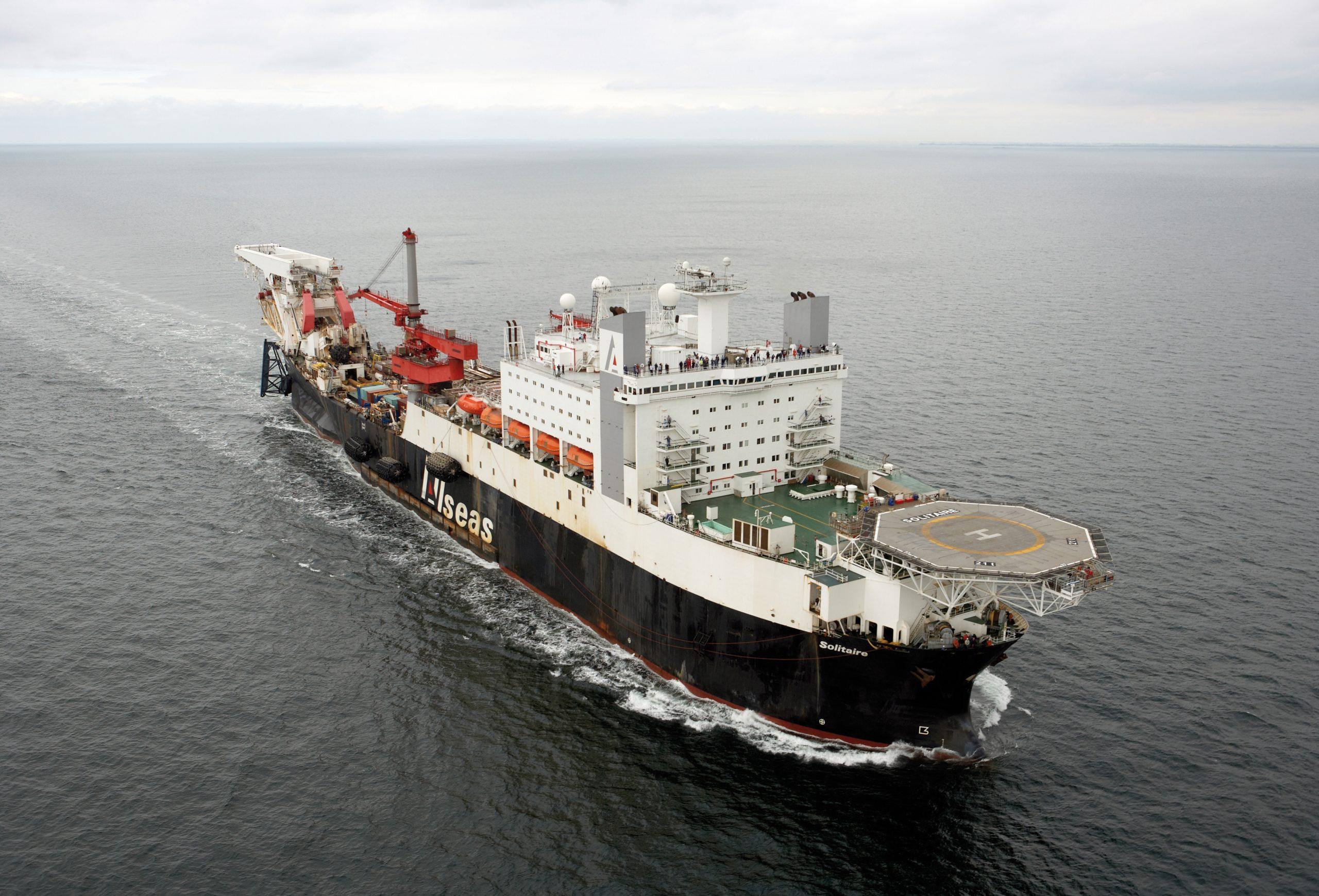 De Solitaire is het grootste monohull pijpenlegvaartuig ter wereld. (Foto Allseas)