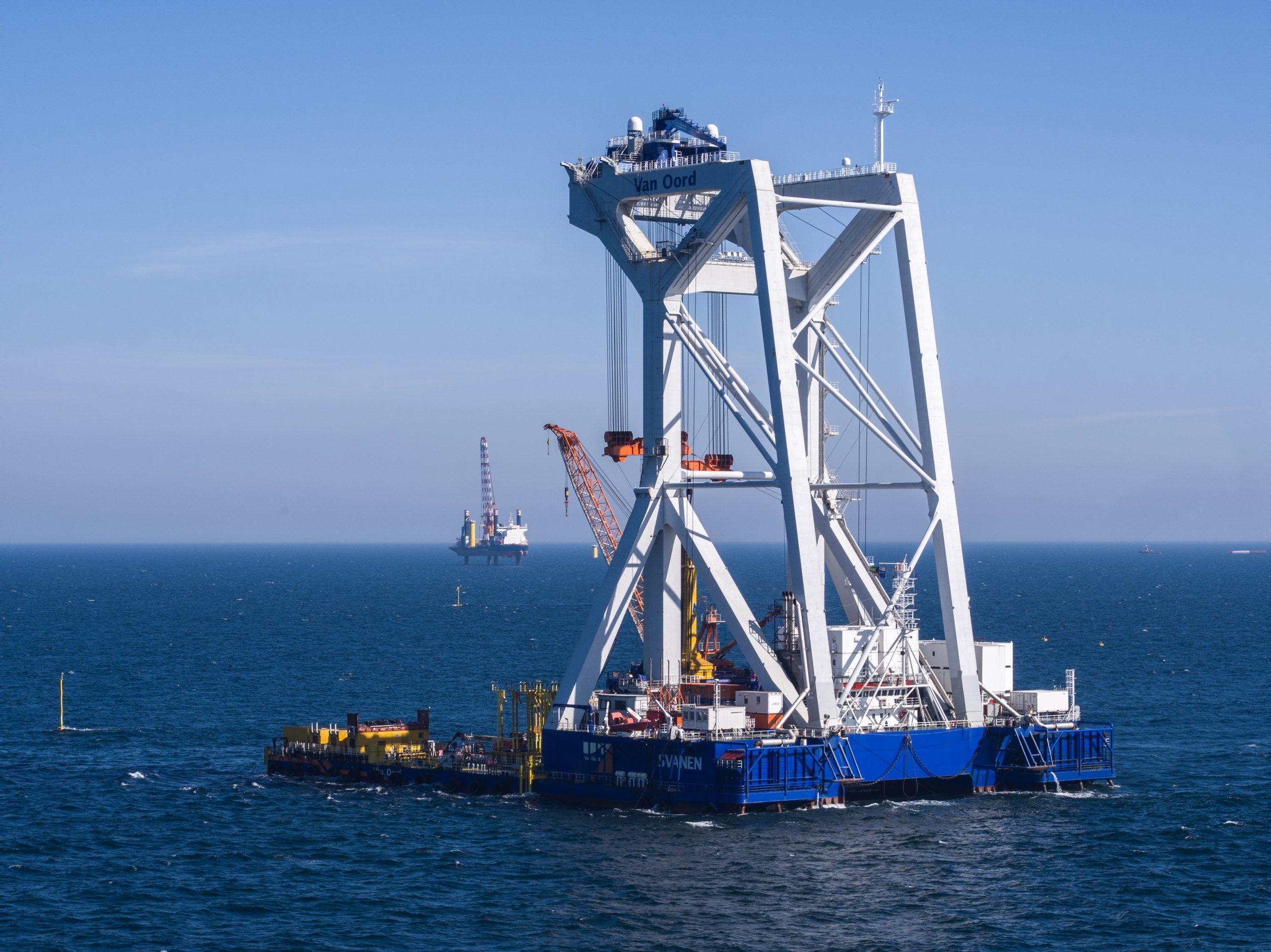 De Svanen is nu actief in de windenergiesector offshore. (Foto Van Oord)