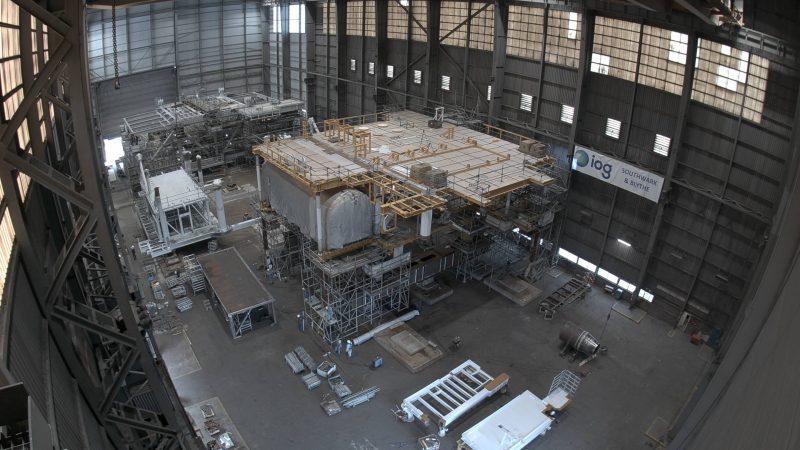 Een van de platformen in aanbouw. (Foto HSM)