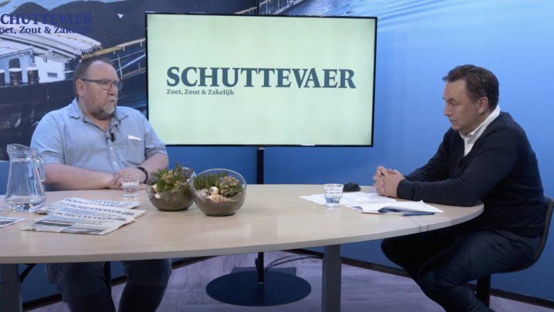 Hoofdredacteur René Quist interviewt Henk Schipper in Studio Schuttevaer. (Screenshot Schuttevaer)