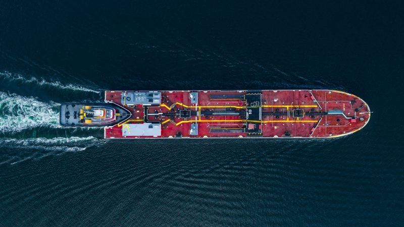 Het voorlopige ontwerp voor de CO2 tanker. (Foto Carbon Collectors)