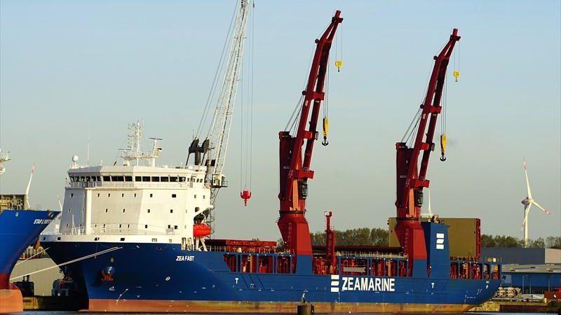 De UHL Fast is wel te zien in de Rotterdamse haven. (Foto Marinetraffic)