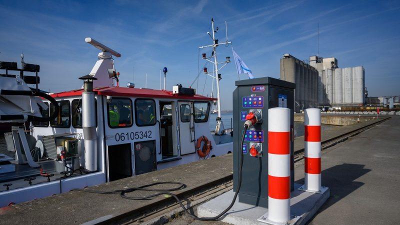 Bij meerdere havens kunnen binnenvaartschepen nu een gratis energiescan doen. (Foto North Sea Port)