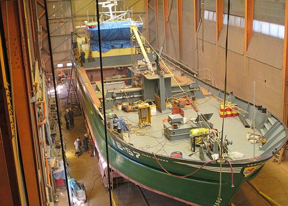 De scheepswerf in het Zeeuwse Yerseke. (Foto Kooiman Marine Group)