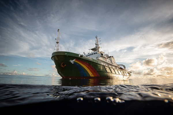 Het Greenpeace-schip Esperanza. (Foto Greenpeace)
