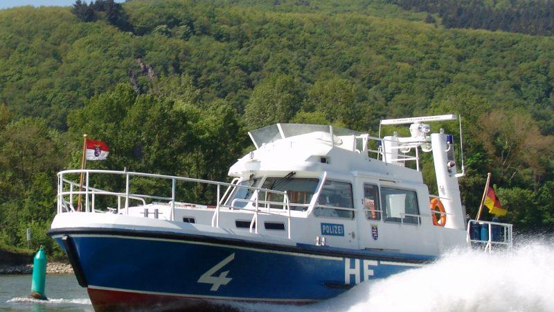 Patrouilleboot van de Wasserschutzpolizei. (Foto Wasserschutzpolizei Rüdesheim)