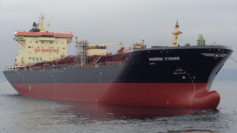 De Maersk Etienne. (Foto Marinetraffic)