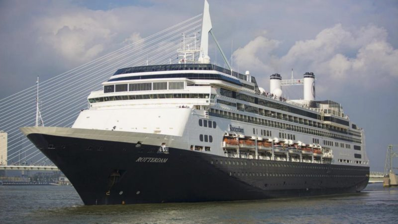 In augustus deed de MS Rotterdam voor de laatste keer Rotterdam aan. (Foto Port of Rotterdam)