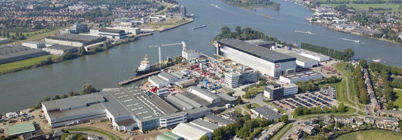 De scheepswerf van Royal IHC in Kinderdijk. (Foto Royal IHC)
