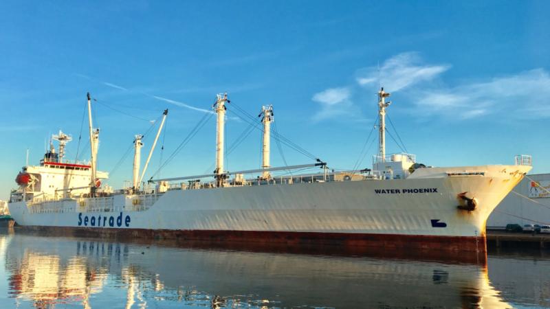 Piraten hebben het vrachtschip Water Phoenix van rederij Seatrade aangevallen. (Foto Maarcoo)