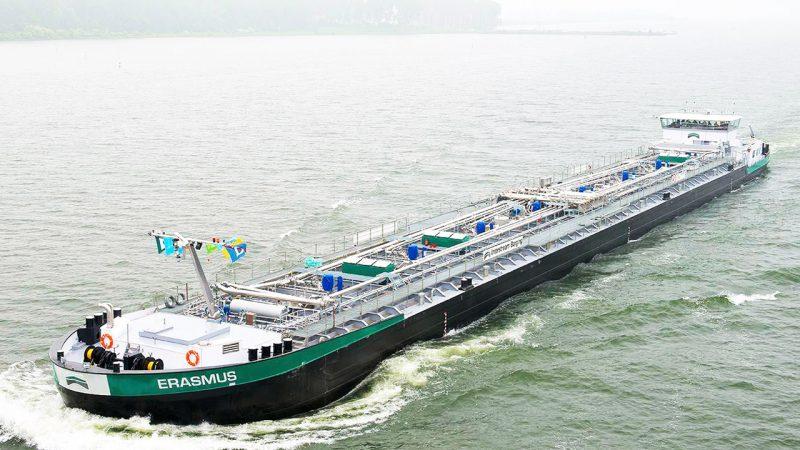De tanker Erasmus van Reederei Deymann. (Foto: Reederei Deymann)