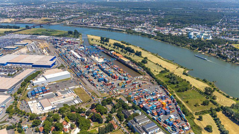 Duisport groeit met twee procent door in de Coronacrisis. (Foto Duisport)