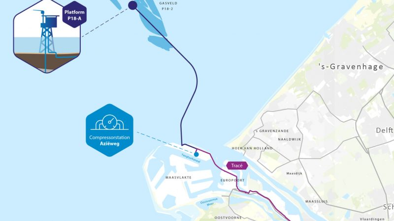 Overzichtskaart van het Porthos CCS-project. (Afbeelding Porthos)