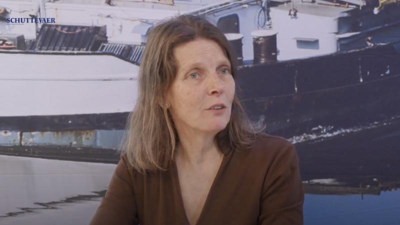 Maira van Helvoirt (LINc) in Studio Schuttevaer. (Beeld uit video)
