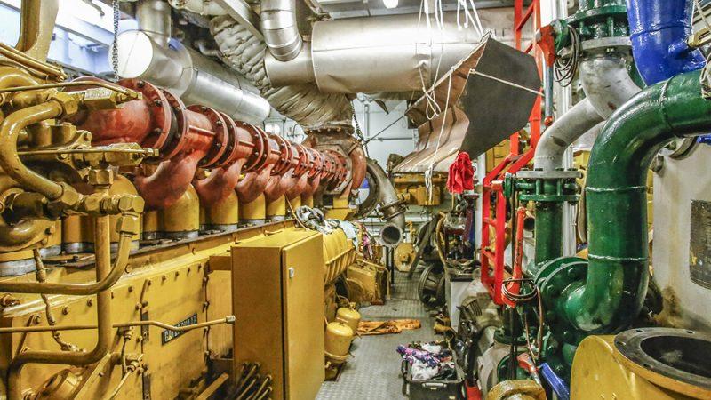 Scheepsmotoren van Pon Cat, een bekende leverancier van motoren. (Foto Pon Cat)