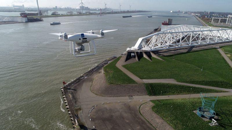 Een drone van Rijkswaterstaat. (Foto Rijkswaterstaat)